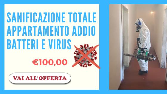 Sanificazione virus (coronavirus - covid-19) e batteria Ferrara e provincia